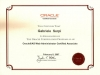Certificate ORACLE