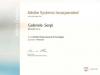 Certificate ADOBE